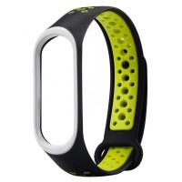 Ремінець для фітнес браслету Mi Band 3/4 Sport Band Nike Black/Green