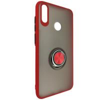 Чохол Totu Copy Ring Case Huawei Y7 2019 Red+Black