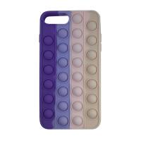 Чохол Pop it Silicon case iPhone 6/7/8 Plus Violet+Pink+Cream
