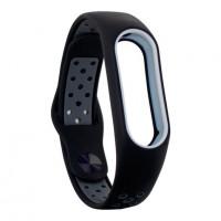 Ремінець для фітнес браслету Mi Band 2 (Nike TPU) Black/Gray
