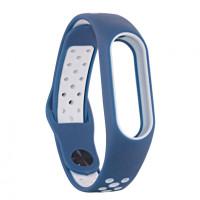 Ремінець для фітнес браслету Mi Band 2 (Nike TPU) Blue/White
