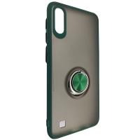 Чохол Totu Copy Ring Case Samsung A10 Green+Black