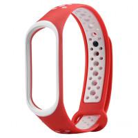 Ремінець для фітнес браслету Mi Band 3/4 Sport Band Nike Red/White