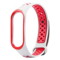 Ремінець для фітнес браслету Mi Band 3/4 Sport Band Nike White/Red