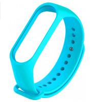 Ремінець для фітнес браслету Mi Band 3/4 (Silicon) Light Blue
