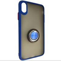 Чохол Totu Copy Ring Case iPhone XS MAX Blue+Red