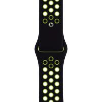 Ремінець для Apple Watch (42-44mm) Nike Sport Band Black/Green