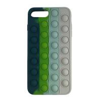Чохол Pop it Silicon case iPhone 6/7/8 Plus Blue+Green+White