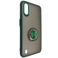 Чохол Totu Copy Ring Case Samsung A01 (A015) Green+Black