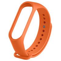Ремінець для фітнес браслету Mi Band 3/4 (Silicon) Orange
