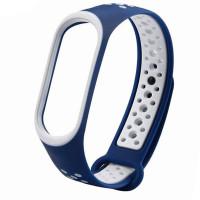 Ремешок для фитнес браслета Mi Band 5 Sport Band Nike Blue/White