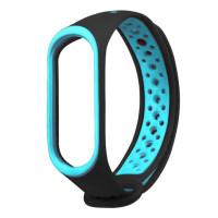 Ремінець для фітнес браслету Mi Band 3/4 Sport Band Nike Black/Blue
