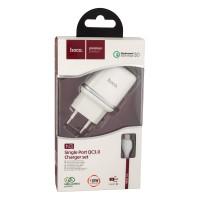 Мережевий Зарядний Пристрій Hoco N3 Micro QC3.0 White