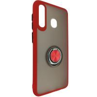 Чохол Totu Copy Ring Case Samsung A20/A30/M10S Red+Black