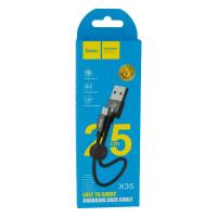 Кабель Hoco X35 Premium Charging Micro 0.25m Колір Чорний