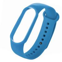 Ремешок для фитнес браслета Mi Band 5 (Silicone) Blue