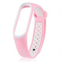 Ремінець для фітнес браслету Mi Band 5 Sport Band Nike Sand Pink/White