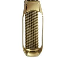 Ремінець для фітнес браслету Mi Band 5 Milanese Smoke Gold
