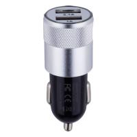 Автомобільний Зарядний Пристрій M-06 2 USB 2100 mAh Black-Dark Gray