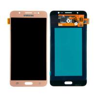 Дисплейний модуль Samsung J710F Galaxy J7, J710H Galaxy J7 2016, TFT, Gold
