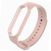 Ремешок для фитнес браслета Mi Band 5 (Silicone) Sand Pink