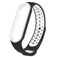 Ремінець для фітнес браслету Mi Band 5/6 Sport Band Nike Black/White