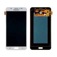 Дисплейний модуль Samsung J710F Galaxy J7 2016, J710H Galaxy J7 2016, OLED, White