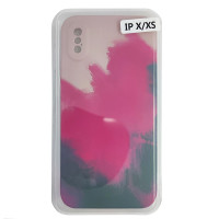 Чохол Silicone Water Print iPhone X/XS Mix Color Red