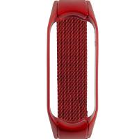 Ремінець для фітнес браслету Mi Band 5 Milanese Red