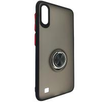 Чохол Totu Copy Ring Case Samsung A10 Black+Red