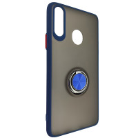 Чохол Totu Copy Ring Case Samsung A20S Blue+Red
