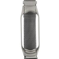 Ремінець для фітнес браслету Mi Band 5 Milanese Silver