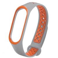 Ремінець для фітнес браслету Mi Band 5 Sport Band Nike Gray/Orange