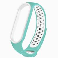Ремінець для фітнес браслету Mi Band 5 Sport Band Nike Light Blue/White