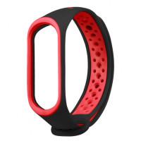 Ремінець для фітнес браслету Mi Band 3/4 Sport Band Nike Black/Red (R)