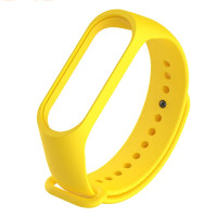 Ремінець для фітнес браслету Mi Band 3/4 (Silicon) Yellow