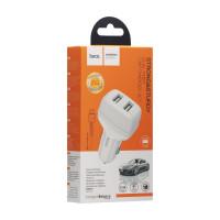 Автомобільний Зарядний Пристрій Hoco Z36 Micro 2USB White