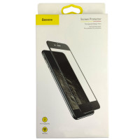 Захисне скло Full Glue Baseus Glass iPhone 7/8 Plus Soft Edges Black