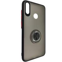 Чохол Totu Copy Ring Case Huawei Y7 2019 Black+Red