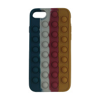Чохол Pop it Silicon case iPhone 6/7/8  Blue+White+Red