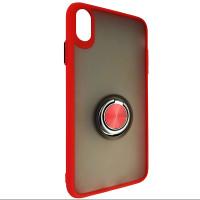 Чохол Totu Copy Ring Case iPhone XS MAX Red+Black