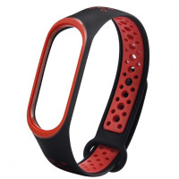 Ремінець для фітнес браслету Mi Band 5 Sport Band Nike Black/Red