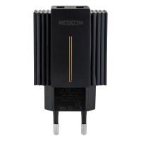 Мережевий Зарядний Пристрій Moxom MX-HC12 Type-C QC 3.0 2USB Black