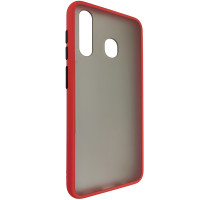 Чехол Totu Copy Gingle Series for Samsung A20/A30 Red+Black
