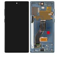 Дисплейний модуль Samsung N970 Galaxy Note 10, з рамкою, Original, Black