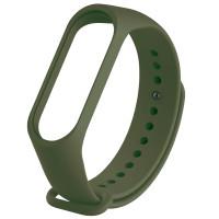 Ремінець для фітнес браслету Mi Band 3/4 (Silicon) Dark Green