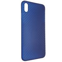 Чехол Anyland Carbon Ultra thin для Apple iPhone XS Max Blue