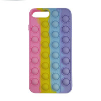 Чохол Pop it Silicon case iPhone 6/7/8 Plus Pink+Yellow+Blue