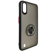 Чохол Totu Copy Ring Case Samsung A01 (A015) Black+Red