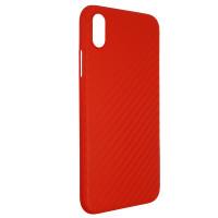 Чохол Anyland Carbon Ultra thin для Apple iPhone X/XS Red
